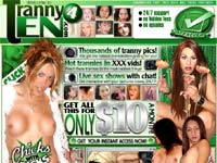 Tranny 4 ten - Only $10 for month access to all tranny worlds