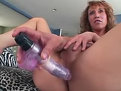 Sexy tranny plays with kinky toys