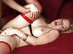 Pervy transsexual having severe shlong in her nice anus in here!