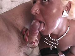 Tranny fucks guy and drinks his cum