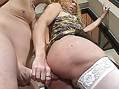 Man Giving A Worthwhile Fuck To A Horny Blonde Transseual