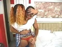 Lustful tgirl in fantastic steamy shemale sex
